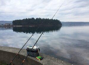 投げ釣りで能登島カレイ釣り2日間で2枚しかいや2枚も釣れた001